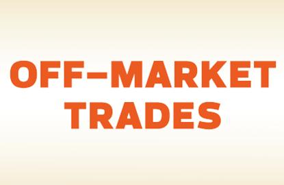 Off-Market Trades: Sterling Progress Bhd, Denko Industrial Corp Bhd, Gabungan AQRS Bhd, Sycal Ventures Bhd, Ace Credit Sdn Bhd