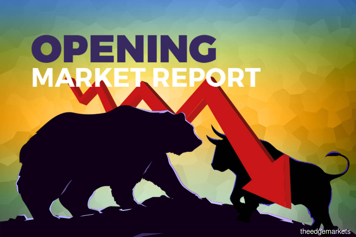 KLCI extends losses to open lower