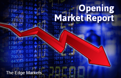 KLCI opens lower, select blue chips weigh