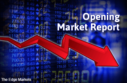 KLCI opens lower, support seen at 1,700-points