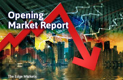 KLCI opens lower as regional markets back-pedal