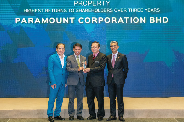 Highest Returns to Shareholders over three years: PROPERTY: Paramount Corp - En route to becoming a pure play in sector