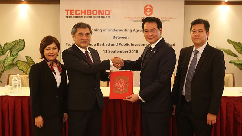 Techbond Inks Underwriting Agreement With Public Investment Bank For