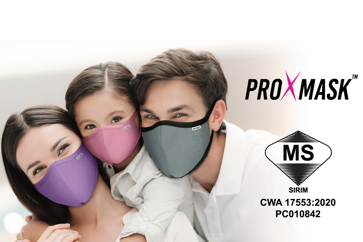 Prolexus's ProXmask™ Antiviral Mask Is the First Certified Reusable Mask by SIRIM