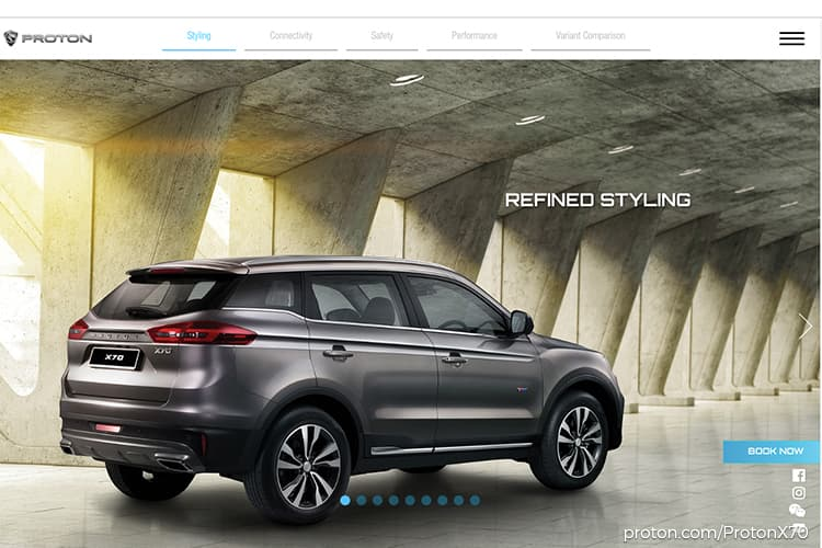 Proton X70 online-booking platform launched today
