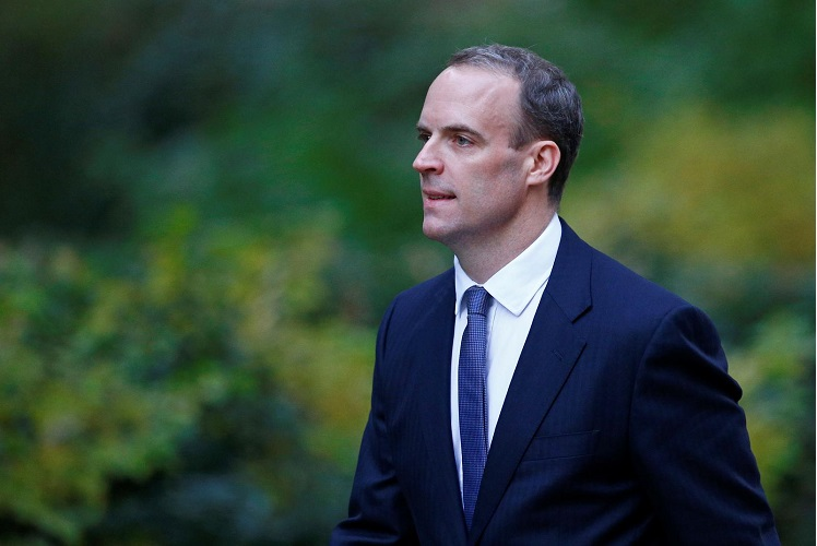 British foreign minister Dominic Raab (Photo by Reuters)