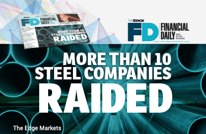 More than 10 steel companies raided