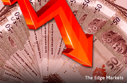 Ringgit falls amid global stock eelloff on China growth outlook