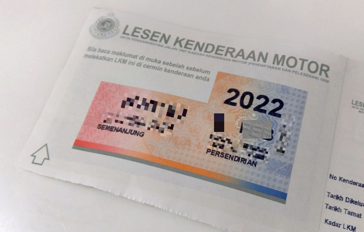 Sufficient stocks of driving licences, road tax disks at RTD, PUSPAKOM, Pos Malaysia and MYEG until year end