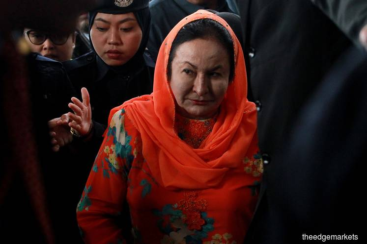 Rosmah arrives at KL court to face money laundering charges