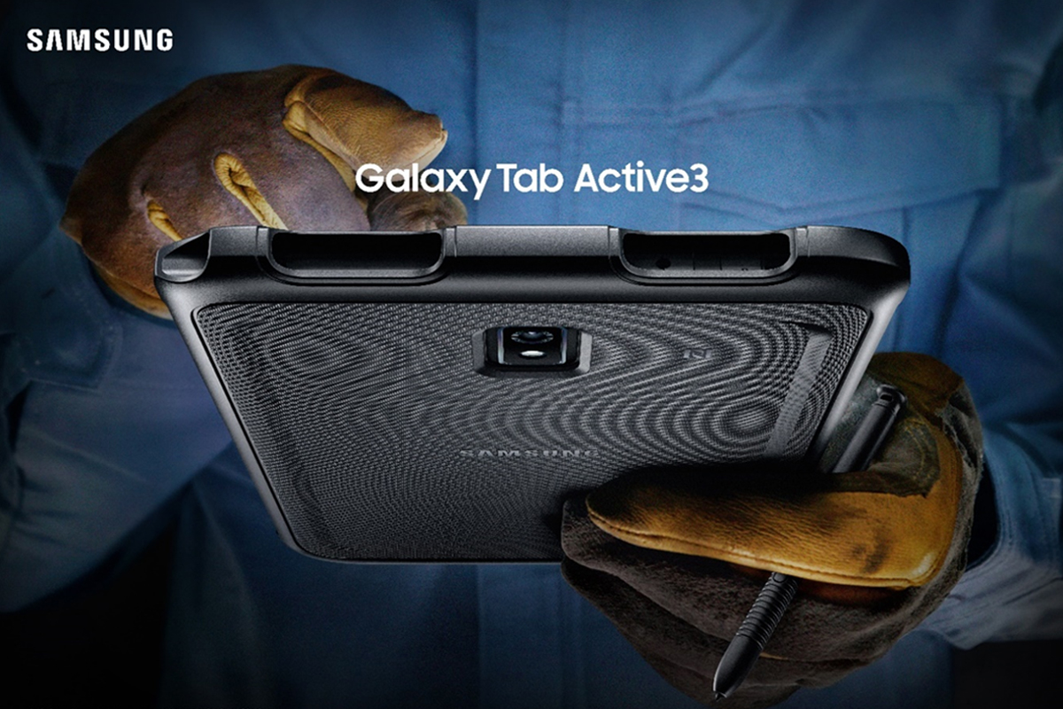 Leaping into the demanding enterprise environment with Samsung's latest line of rugged tablets, the Galaxy Tab Active3
