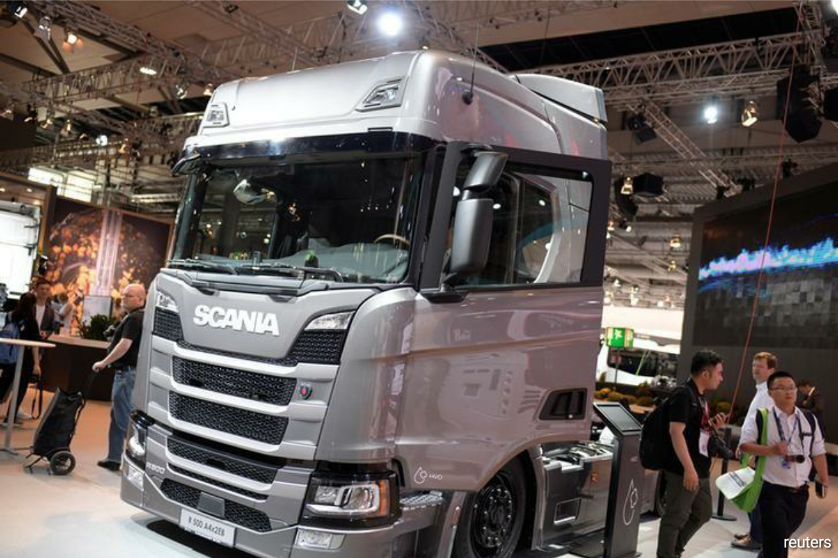 Scania said the plant, which will be built adjacent to its chassis assembly plant in Sodertalje, will assemble battery modules and packs from cells which will be delivered from Swedish lithium-ion battery maker Northvolt's factory in Skelleftea, Sweden.(Photo by Reuters)
