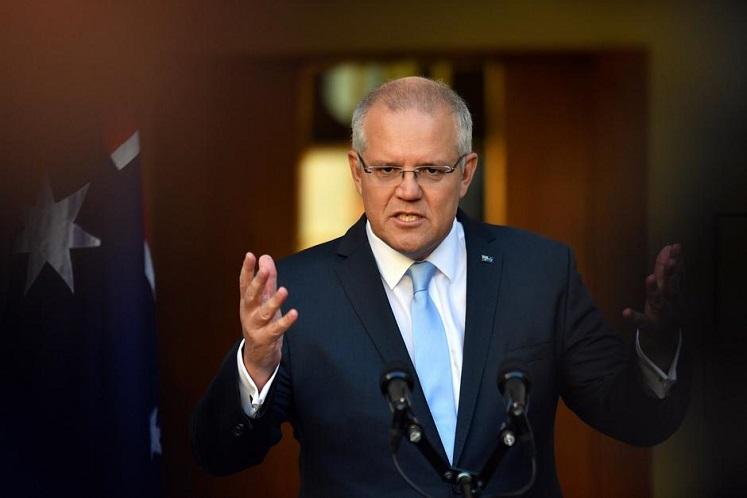 Australia Prime Minister Scott Morrison (Photo by Reuters)