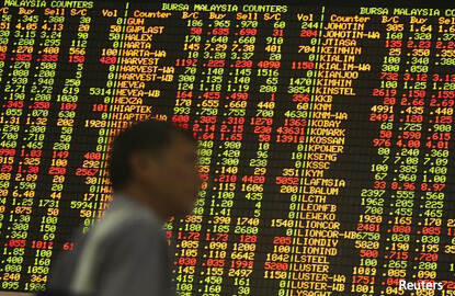 Most SE Asian stocks down as investors await cues from Trump speech