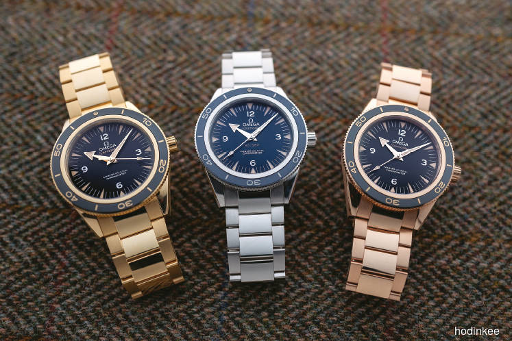 Trying on nearly two pounds of precious metal omega watches