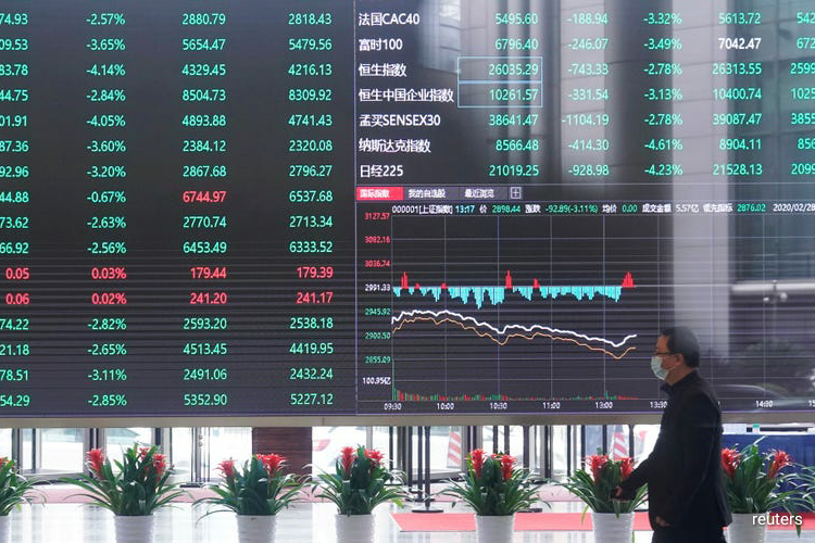 Foreign portfolio outflows from mainland markets are set to hit a monthly record, with investors rushing for the safety of U.S. dollars as global equities markets tumble. (Photo by Reuters)