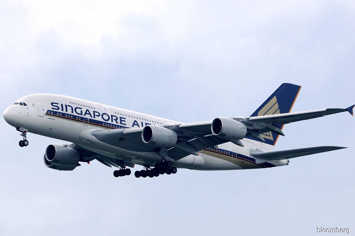 A Singapore Airlines' Airbus A380 super-jumbo