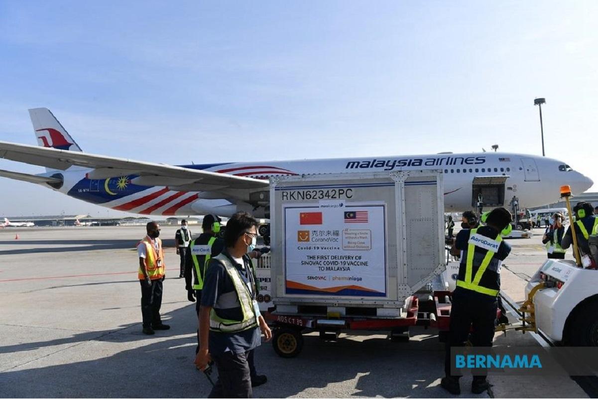 Malaysia takes delivery of Sinovac Covid-19 vaccine