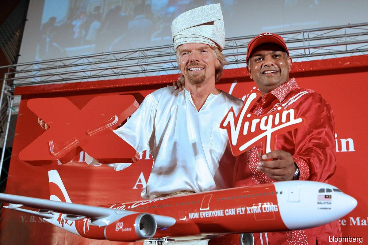 Sir Richard Branson (left) and Tan Sri Tony Fernandes (right)