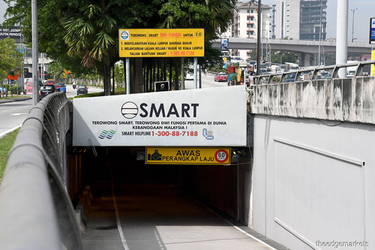 A file photo of the Smart Tunnel by theedgemarkets