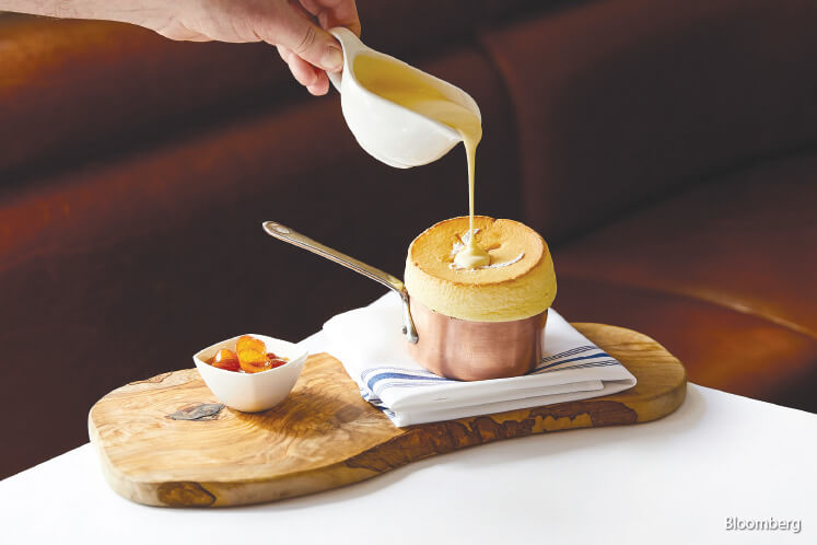 For dessert, Lafayette offers an attention-getting mandarin souffle.