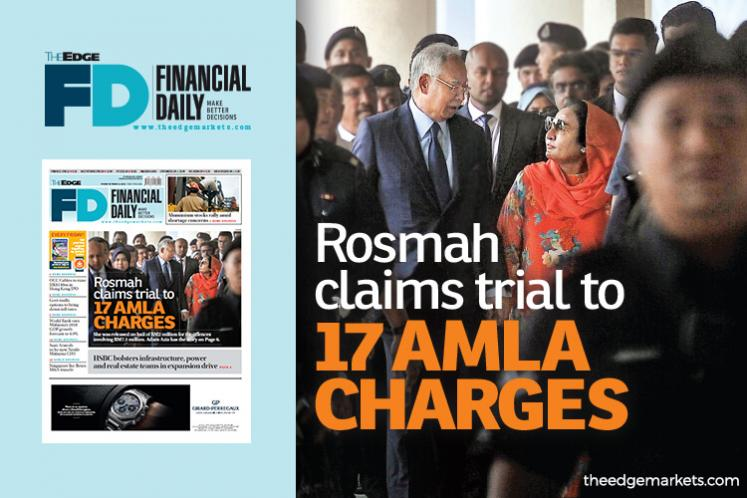 Rosmah claims trial to 17 AMLA charges