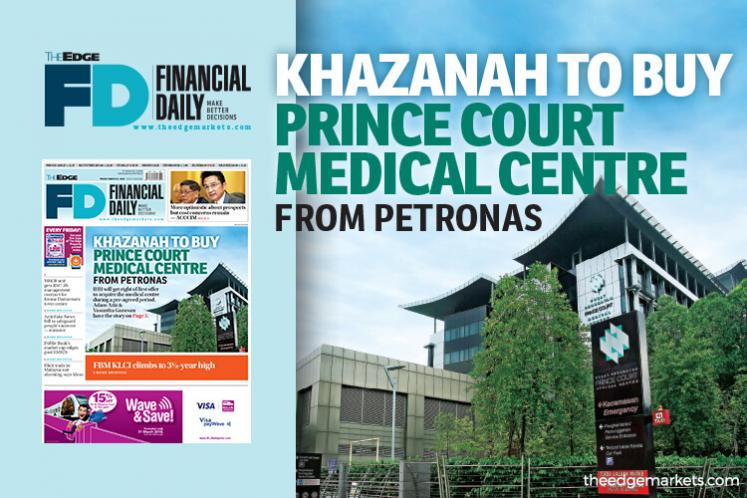 Khazanah to buy Prince Court Medical Centre from Petronas