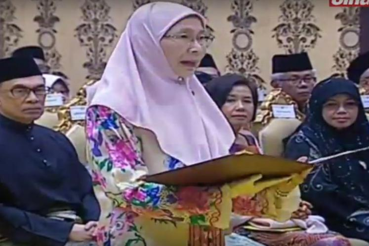Wan Azizah leads swearing-in of 13 Cabinet Ministers