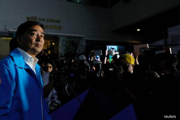 Former Thai PM Abhisit steps down as party leader after poor showing in election