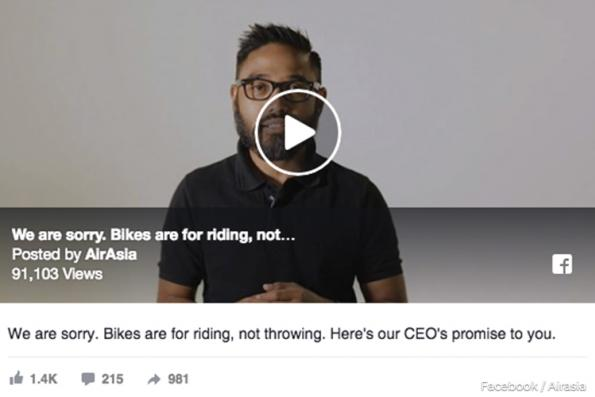 AirAsia apologises for ground crew's rough handling of bicycles in viral video