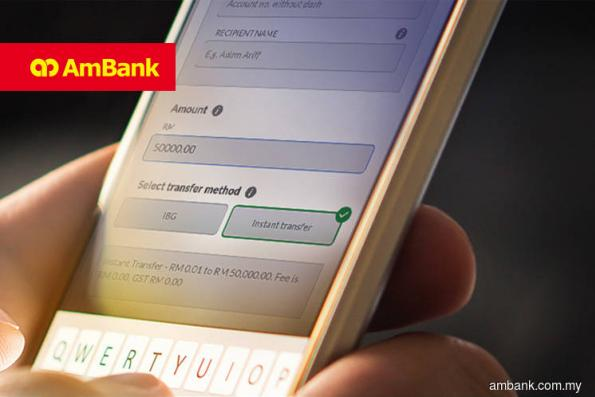 AmBank waives fee for online transfers