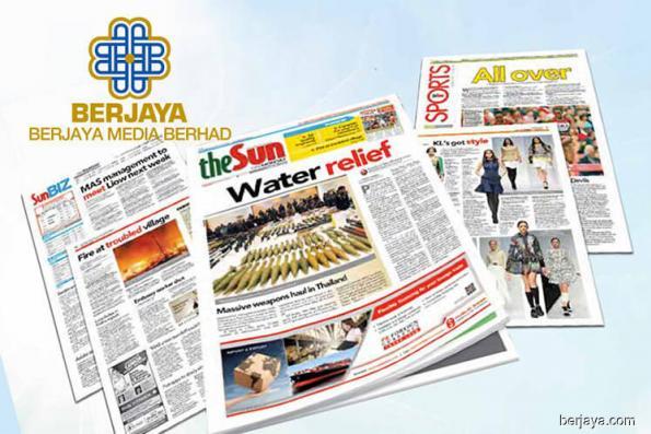 Berjaya Media 1Q loss widens due to lower revenue