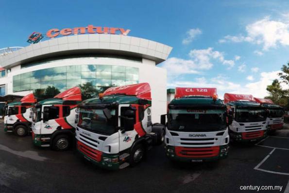 Century Logistics 1Q net profit down 46%
