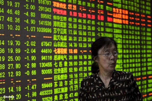 China shares tumble on bond rout, blue-chip index down most in 1½ yrs