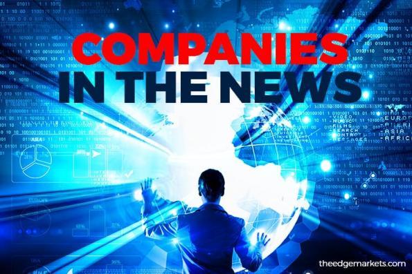 Lotte Chemical Titan Holdings Bhd, Mudajaya Group Bhd, Texchem Resources Bhd, Palette Multimedia Bhd, Berjaya Corp Bhd, United Plantations Bhd, ManagePay Systems Bhd and WMG Holdings Bhd