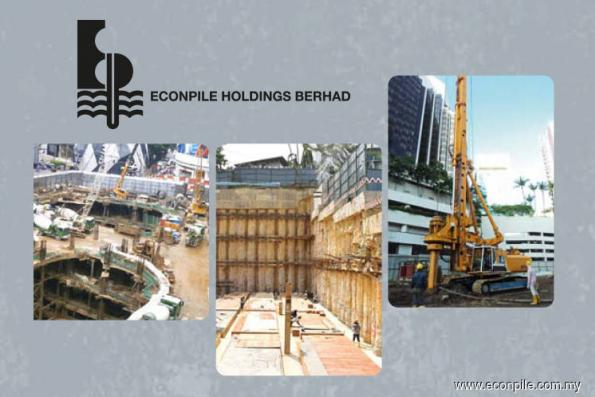 Econpile up 6% after bagging piling contract in Putrajaya