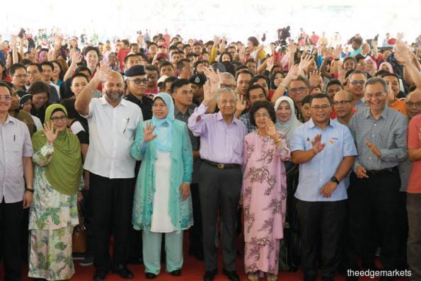 Huge turnout at the launch of Dasar Komuniti Negara by PM