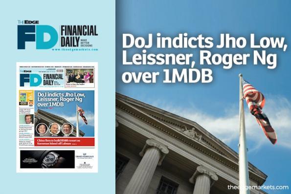 美国司法部就1MDB案起诉刘特佐、Leissner和Roger Ng