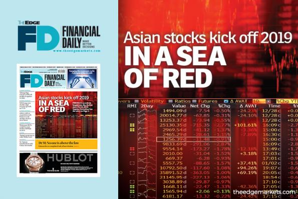 Asian stocks kick off 2019 in a sea of red