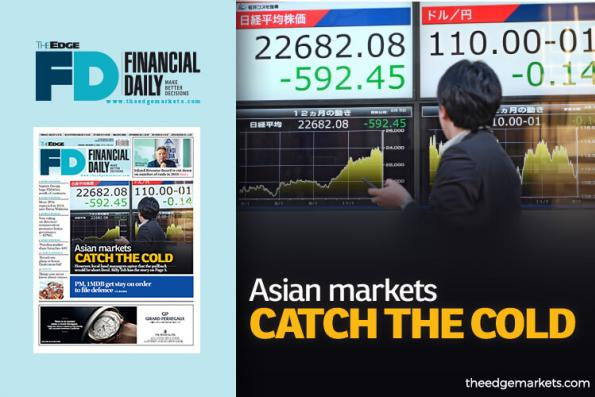 Asian markets catch the cold
