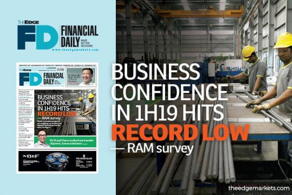 RAM调查:上半年商业信心创新低
