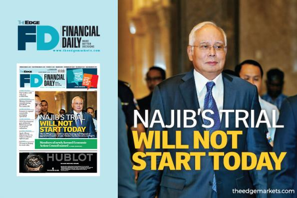 Najib's trial will not start today
