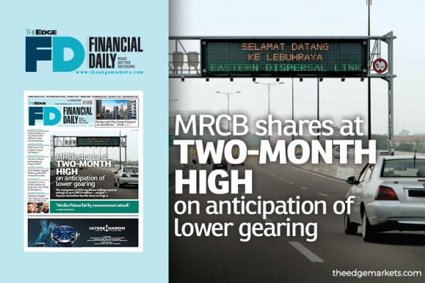 MRCB shares at 2-month high on anticipation of lower gearing