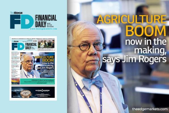 Agriculture boom now in the making, says Jim Rogers