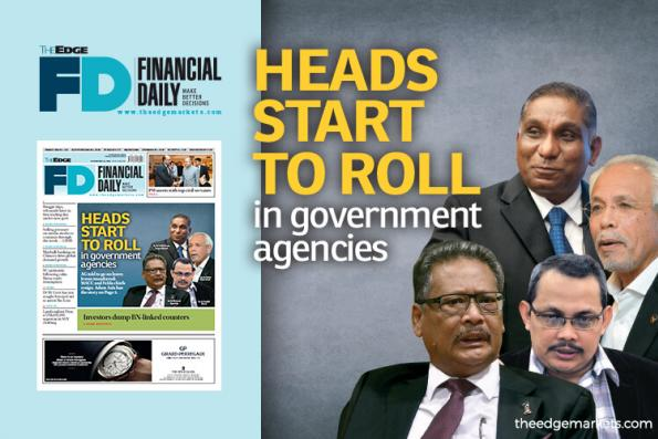 Heads start to roll in government agencies