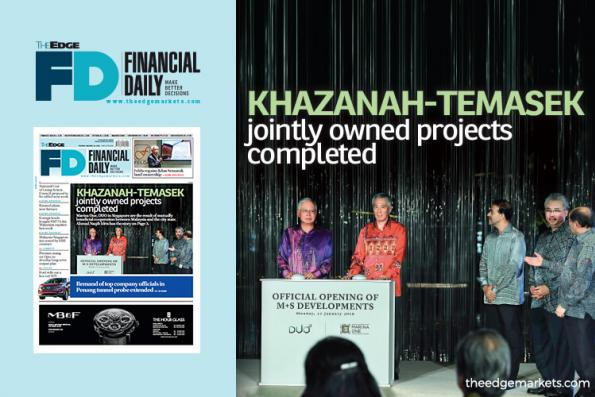 Khazanah-Temasek jointly owned projects completed