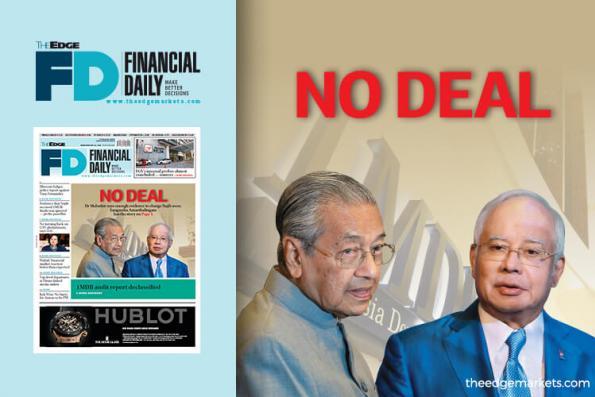 No deal with Najib on 1MDB, says Dr Mahathir