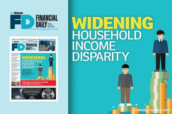 Widening household income disparity