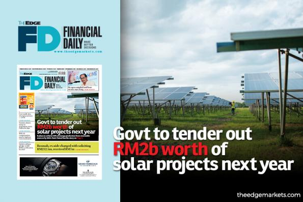 Govt to tender out RM2b worth of solar projects next year