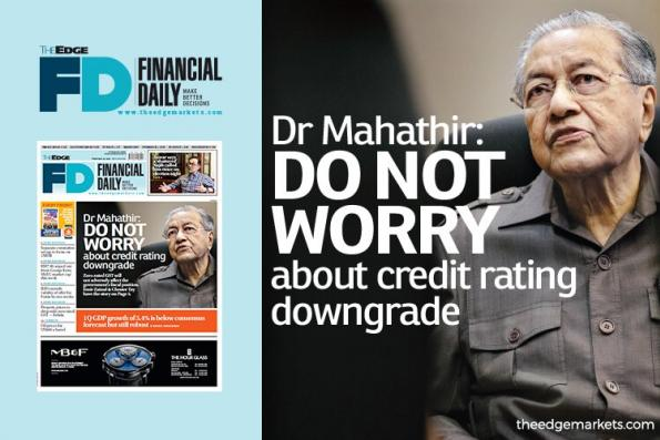 马哈迪:无需担忧信用评级调降
